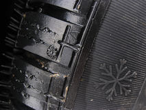 Close up of a winter tyre Stock Photo
