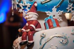 Close Up Winter Wedding Cake Stock Images