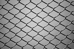 Close up of wire fence in Black and White Royalty Free Stock Photography