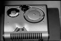 Close-up of  wire recorder stock video footage
