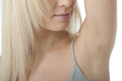 Close-up of woman armpit Royalty Free Stock Images