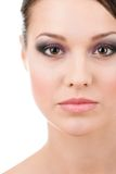 Close up of woman beautiful face Stock Image