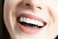 Close Up Of Woman With Beautiful Teeth And A Perfect Smile Royalty Free Stock Photo