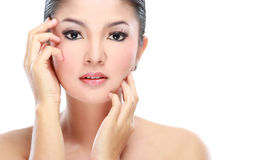 Close up of woman beauty Stock Photos
