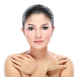 Close up of woman beauty Stock Images
