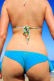 Close up of woman in bikini Stock Photography