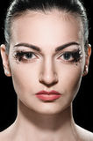 Close up Woman with bright makeup Stock Image