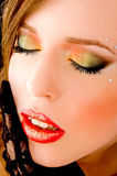 Close up of woman with closed eyes Royalty Free Stock Photos