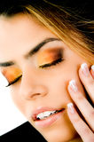 Close up of woman with closed eyes Royalty Free Stock Photo