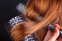 Hair and comb Royalty Free Stock Images