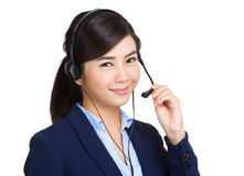 Close up of woman customer service Stock Images