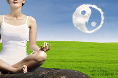 Close-up woman exercise yoga Royalty Free Stock Photos