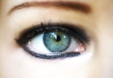 Close-up woman eye. Fashionstyle Royalty Free Stock Photography