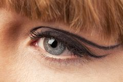 Close-up of woman eye Royalty Free Stock Image