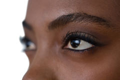 Close up of woman eyes looking away Royalty Free Stock Images