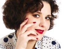 Close-up woman face Stock Photo