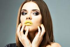 Close up woman face. Stock Image
