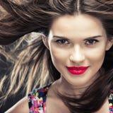 Close up woman face Stock Photography