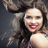 Close up woman face portrait Stock Image