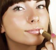 Close-up woman gloss lips Royalty Free Stock Image