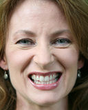 Close up of a woman gritting her teeth Stock Photos