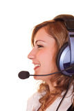 Close-up of woman with headset Royalty Free Stock Photos