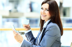 Close-up Of Woman Holding Mobile Phone Royalty Free Stock Image
