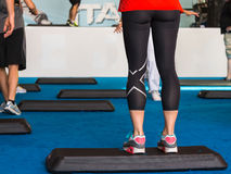 Close Up of Woman Legs, Step Fitness Platform Stock Photos