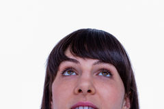 Close up of woman looking up Stock Image