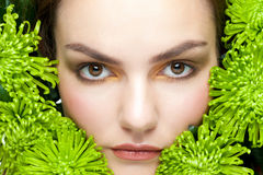 Close-up of woman with makeup Royalty Free Stock Photography