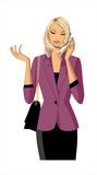 Close-up of woman royalty free illustration