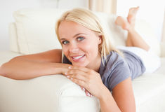 Close up of a woman posing Royalty Free Stock Photo