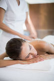 Close-up of woman receiving spa treatment Royalty Free Stock Images