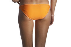 Close up of woman?s bikini-clad buttocks Stock Photo