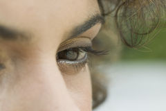 Close up of a woman's eye. Extreme close up of young woman's eyes Royalty Free Stock Image
