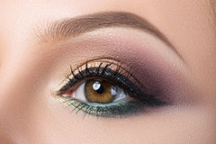 Close-up of woman's eye with creative modern make-up Royalty Free Stock Image