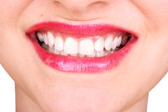 Close up of a woman's smile Royalty Free Stock Images