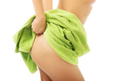 Close up on woman showing her buttock Stock Photography