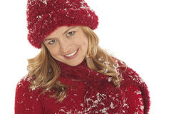 Close-up of woman in snow Stock Photos