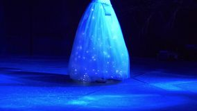 Woman in dress with LED lights