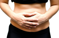 Close up woman with stomachache, Stock Photos
