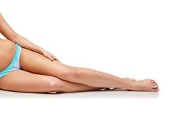 Close up of woman sunbathing in bikini swimsuit Stock Photography