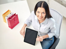 Close up of woman with tablet pc at office Stock Photos