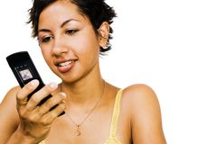 Close-up of a woman text messaging Royalty Free Stock Photography