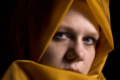 Close up on a Woman in Veil Royalty Free Stock Photography