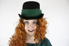Close-up of woman wearing hat Royalty Free Stock Photo