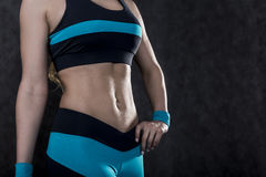 Close up of a womans abs Stock Photos