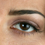 Close-up of womans eye. Extreme close-up of womans eye Royalty Free Stock Images