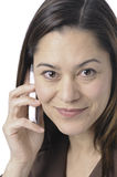 Close up of women holding telephone Royalty Free Stock Photo