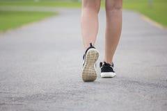 Close-up women jogging Stock Photos